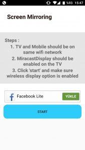 telefon ekranını televizyona yansıtma