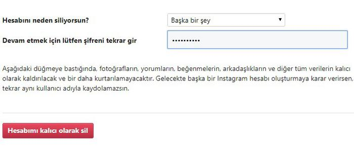 instagram nasıl kapatılır