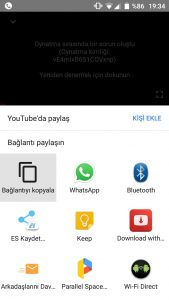 youtube telefondan programsız video indirme