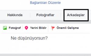 facebook arkadaş listesi gizleme ayarı