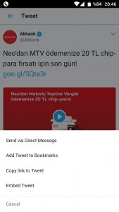 Twitter telefondan video indirme