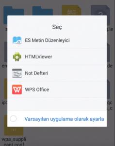 telefonda kayıtlı wifi şifresi