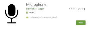 telefonu mikrofon olarak kullanmak