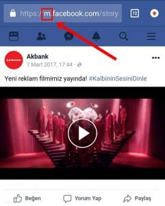 facebook video indirme programsız mobil