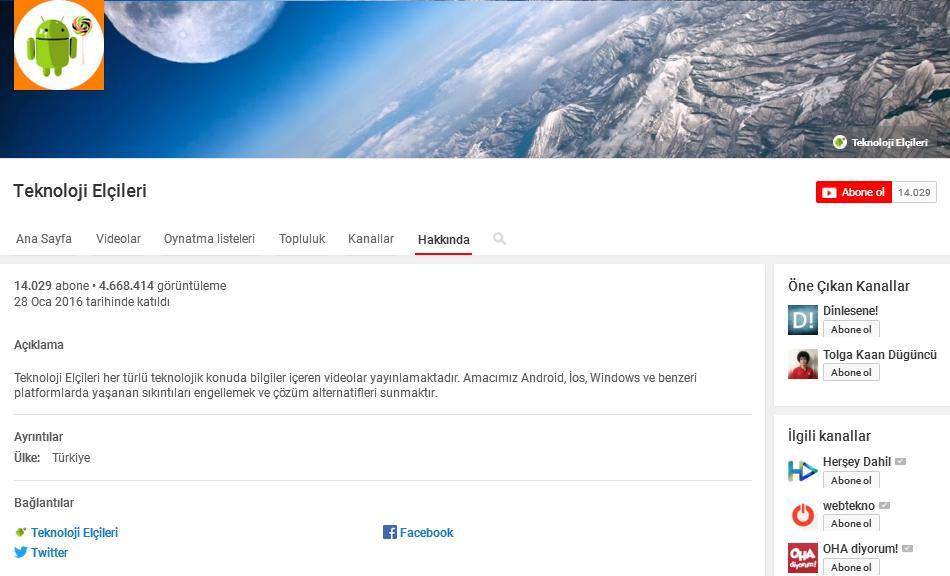 youtube kanalındaki ilk adımlar