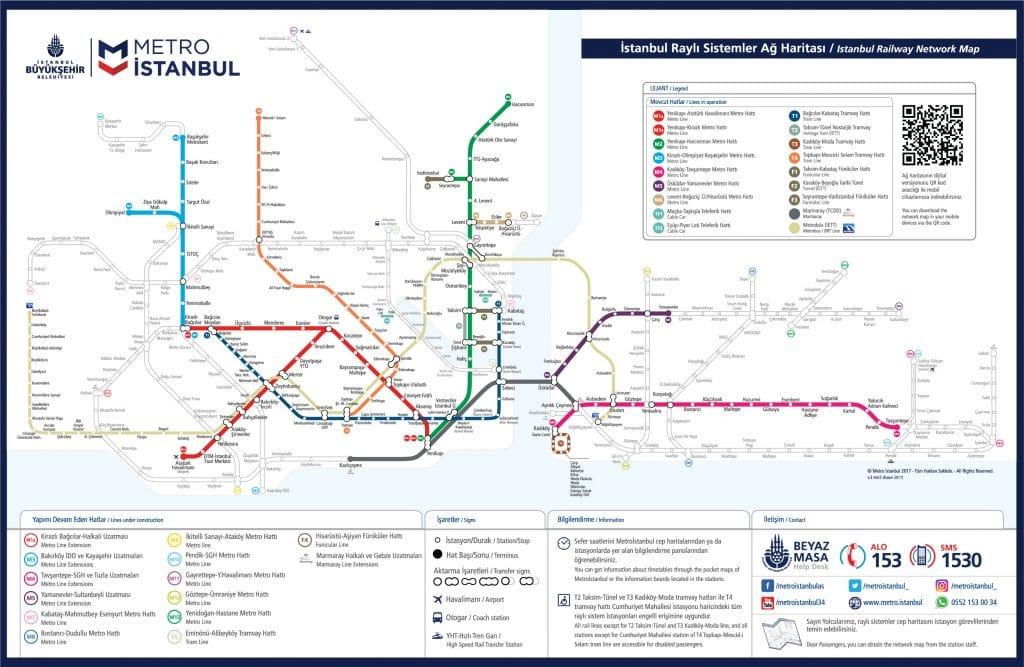 istanbul metro ağları haritası