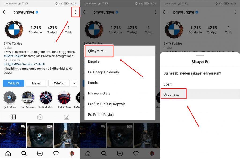 Instagram Fake Hesap Nasıl Şikayet Edilir